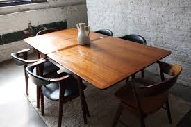 Teak Dining Room Furniture Usual White Brick Wall Bit Black Color And Window Facing Teak