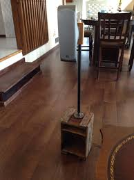 Laminate Flooring Around Pipes Speaker Stand From Old Wooden Box U0026 Iron Pipe Repurpose