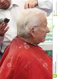grandpa gets a haircut royalty free stock images image 11016839