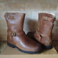 s ugg australia brown grandle boots ugg australia grandle chestnut brown leather boots womens 8 ebay