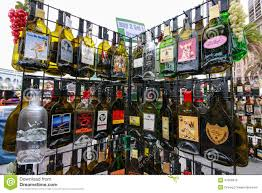 alcoholic drinks bottles rack with empty flat souvenir popular alcohol drinks bottles