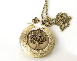 Personalized Photo Locket Necklace Family Locket Etsy