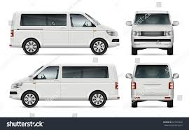 volkswagen van front view mini bus vector template car branding stock vector 647693206