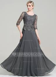 a line princess scoop neck floor length chiffon mother of the