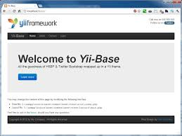 yii layout and sublayout yii base extensions yii php framework