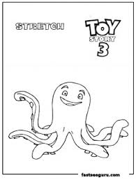 stretch toy story 3 coloring page print out printable coloring