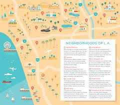 South Los Angeles Map by Hr Cloud Welcome Packet Alexander Vidal Illustration