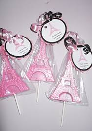 eiffel tower favors 12 eiffel tower ooh la la gourmet chocolate lollipops with