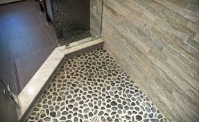 river rock bathroom ideas impressive river rock bathroom tile on rock looking floor tile