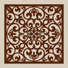geometric ornament the template pattern for decorative panel