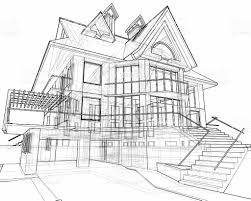 house 3d technical draw stock photo 90989730 istock