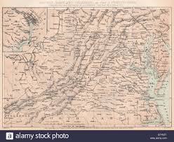 Map Of Maryland And Virginia by American Civil War Virginia Maryland Delaware Pa Washington Dc
