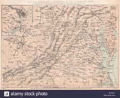 Map Of Maryland And Virginia by American Civil War Virginia Maryland Delaware Pa Washington Dc