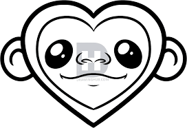 how to draw a monkey heart step by step by darkonator drawinghub