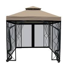 Patio Gazebo Replacement Covers by Garden Treasures 8 Ft X 8 Ft Square Gazebo With Insect Net