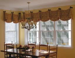kitchen window valance ideas bay windows swag and bays on pinterest small window curtain ideas