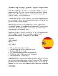 spanish subjunctive reading worksheet lectura en el subjuntivo