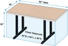 Custom Fitted Table Covers by Tablecloth Size Calculator Bright Settings Table Linens