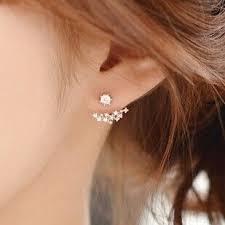 two way earrings 21 best jacket ear cuff two way earrings for women 2015 images on