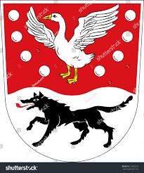 coat arms prignitz district northwestern part stock vector