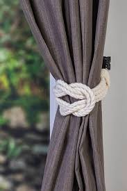 Shabby Chic Curtain Holdbacks by Cotton Double Square Knot Nautical Curtain Tie Backs Shabby