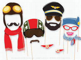 picture props airplane party photo booth props birthday party photobooth
