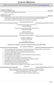 Construction Resume Sample by Management Resume Examples Resume Professional Writers