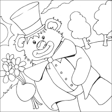 teddy bear clown coloring page free colouring pages