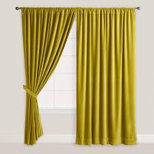 Yellow Curtain Green Velvet Oasis Curtain World Market Home Decor