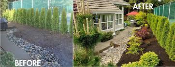 easy landscaping designs backyard fence ideas