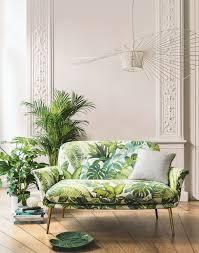 tissu canapé au mètre tissus d ameublement jungle pour une décoration tropicale tld webzine