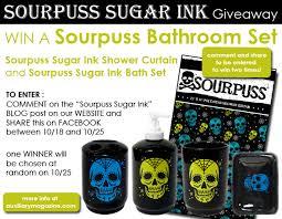 Sourpuss Shower Curtain Tattoo Archives Auxiliary Magazine