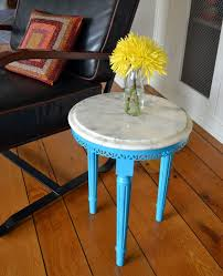 value of marble top tables marble top side table painted turquoise revived vintage marble