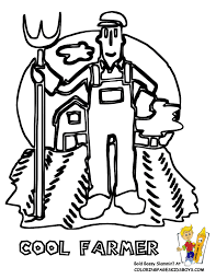 farmer coloring page coloring home