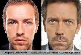 Chris Martin Meme - coldplay s chris martin totally looks like house m d actor hugh