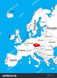 Map Of Czech Republic Czech Republic Vector Map Europe Vector Stock Vector 316185344