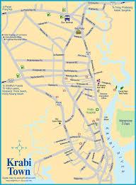map of krabi town krabi thailand pinterest krabi krabi town