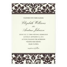 Damask Wedding Invitations Damask Wedding Invitation Card