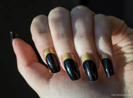 the nail blog gold and black ruffian manicure