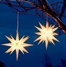 amazon com pack of 2 white moravian star hanging christmas lights