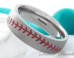 baseball wedding ring baseball wedding band etsy