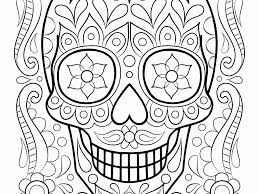 sugar skull coloring book all coloring page