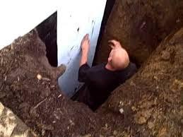 repair exterior wall leaking foundation basement