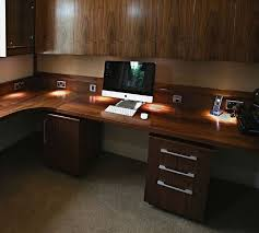 Walnut Office Desk Bespoke American Black Walnut Home Office And Study Feature