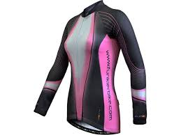 funkier clothing womens long sleeve thermal jersey grey pink