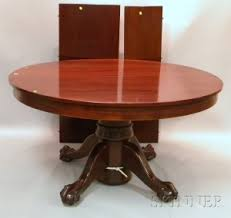antique mahogany pedestal table ball and claw dining table dining room ideas