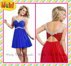 2017 fashion party dresses royal blue red mini sheer straps with