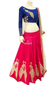 redcolor sky blue u0026 red color party wear chaniya choli