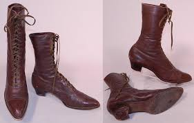 womens boots size 9 1 2 wide antique womens brown leather high top lace up boots shoes