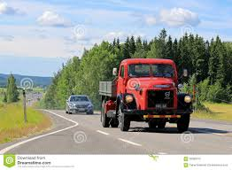 volvo heavy volvo titan tipper truck on the road editorial stock photo image